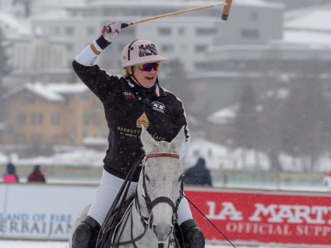 Melissa Ganzi wins 35th Snow Polo Worldcup St.Moritz
