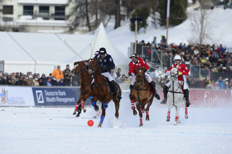 St Moritz Snow Polo World Cup 2018, Subsidiary final: Azerbaijan vs Badrutts Palace - Final: Cartier vs Maserati, 28/01/2018 - © www.imagesofpolo.com