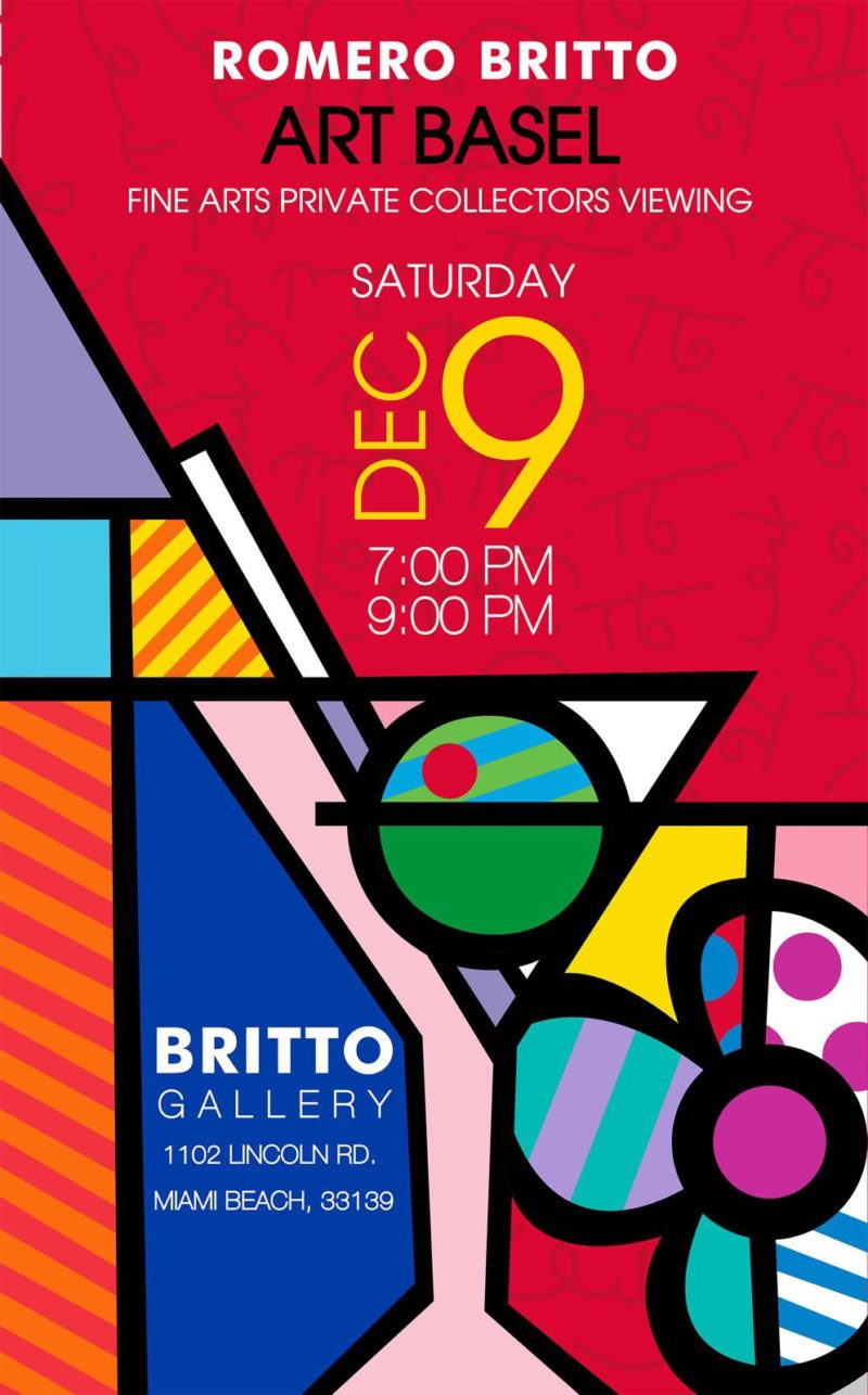 Romero Britto invite