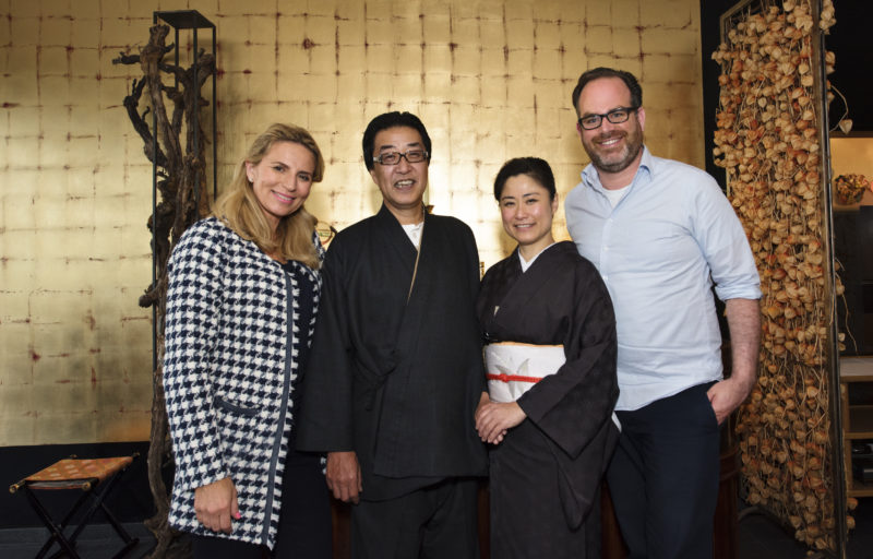 Ryokan owners and Stephan Lendi
