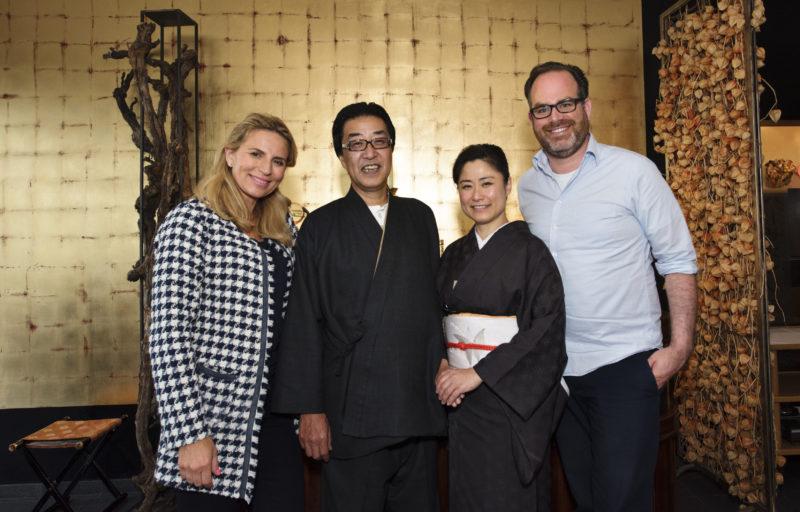 Ryokan owners and Stephan Lendi
