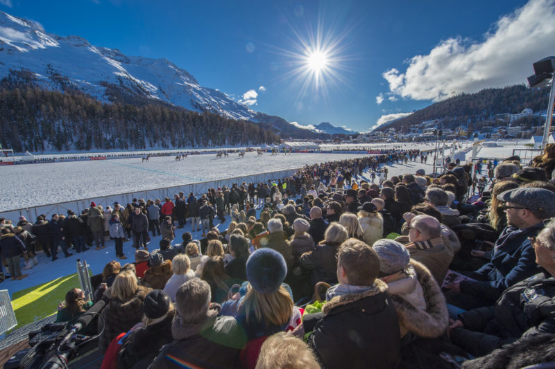 Day 2 at Snow Polo World Cup St. Moritz 2018 on the frozen lake. copyrights: fotoswiss.com/giancarlo cattaneo