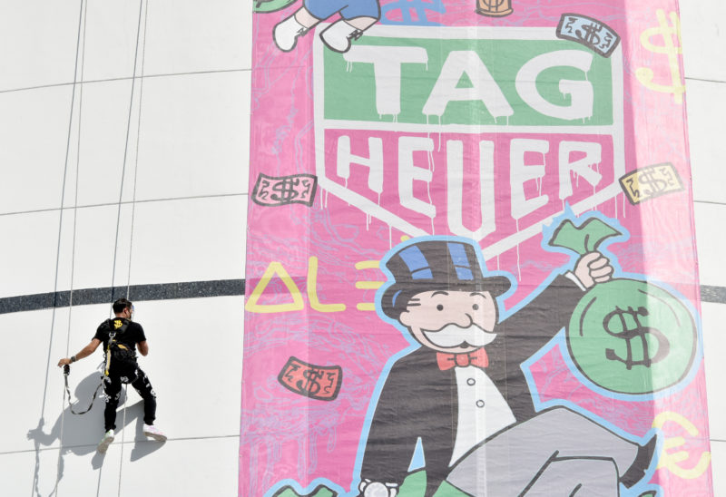 MIAMI, FL - DECEMBER 07:  Fontainebleau Hotel Art Takeover With TAG Heuer Art Provocateur Alec Monopoly at Miami Design District on December 7, 2017 in Miami, Florida.  (Photo by Eugene Gologursky/Getty Images for TAG Heuer)