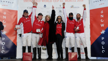 Cartier team snow polo 2018